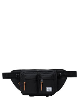 BLACK MENS ACCESSORIES HERSCHEL SUPPLY CO BAGS + BACKPACKS - 10018-00001-OSBLK