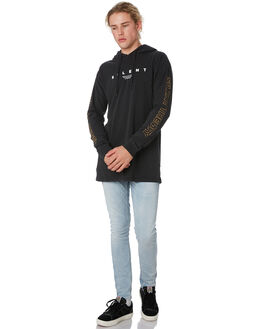 WASHED BLACK MENS CLOTHING SILENT THEORY TEES - 4034009.WBLK