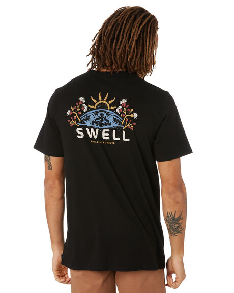 BLACK MENS CLOTHING SWELL TEES - S5222005BLK