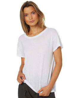 WHITE WOMENS CLOTHING THRILLS TEES - WTS8-134AWHT