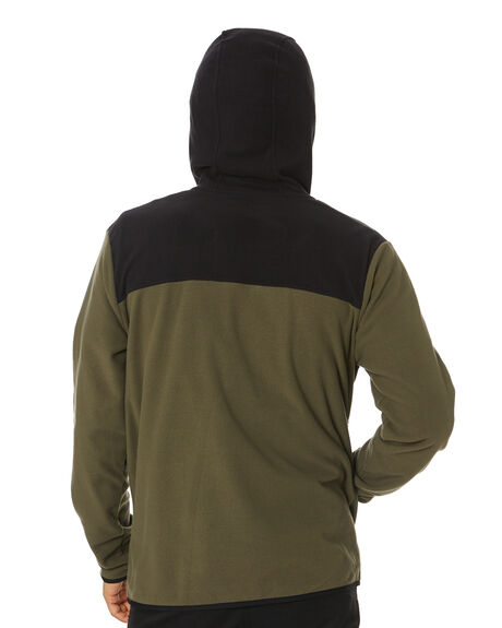 TAUPE GREEN BLACK MENS CLOTHING THE NORTH FACE JACKETS - NF0A4AJBBQW