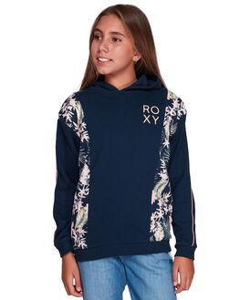 DRESS BLUES FLORAL KIDS GIRLS ROXY JUMPERS + JACKETS - ERGFT03364-BTK8