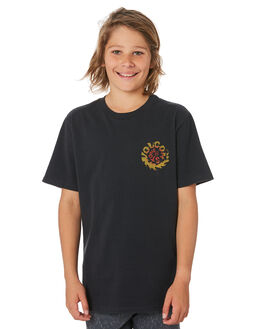 BLACK KIDS BOYS VOLCOM TOPS - C4341973BLK