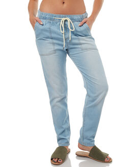 LIGHT BLUE WOMENS CLOTHING ROXY PANTS - ERJD03172BLCW