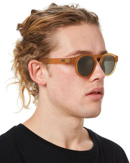 FROSTED BEIGE MENS ACCESSORIES LOCAL SUPPLY SUNGLASSES - FREEWAYBEF2