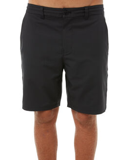 BRIGHT BLACK MENS CLOTHING OUTERKNOWN SHORTS - 1760001BBK