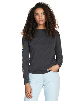 BLACK WOMENS CLOTHING QUIKSILVER TEES - EQWKT03013-KVJ0