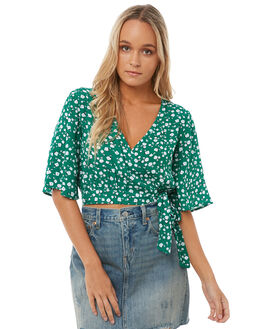 GREEN WOMENS CLOTHING MINKPINK FASHION TOPS - MP1703404GREEN