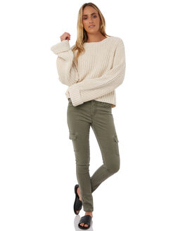 RIFLE GREEN WOMENS CLOTHING RUSTY JEANS - PAL0911RFG