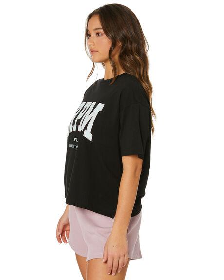 BLACK WOMENS CLOTHING RPM TEES - 21PW01ABLK