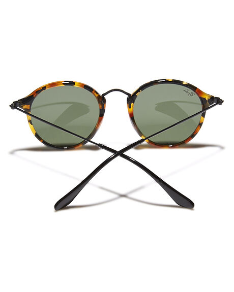SPOTTED BLACK GREEN MENS ACCESSORIES RAY-BAN SUNGLASSES - 0RB2447491157