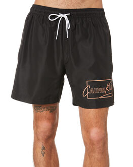 BLACK MENS CLOTHING CALVIN KLEIN BOARDSHORTS - KM00431-BEH