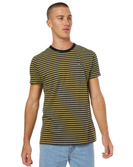 YELLOW MENS CLOTHING DEUS EX MACHINA TEES - DMS71894YLW
