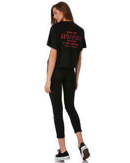 BLACK WOMENS CLOTHING HUFFER TEES - WTE92S72-407BLK