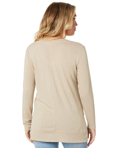 OATMEAL WOMENS CLOTHING BETTY BASICS TEES - BB445H20OAT