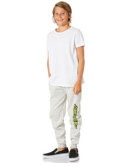 GREY MARLE KIDS BOYS SANTA CRUZ PANTS - SC-YFA0382GRYM