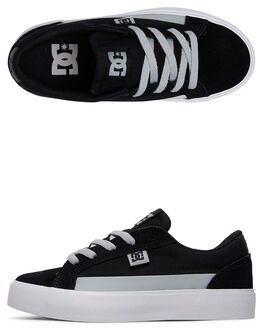 BLACK/GREY/WHITE KIDS BOYS DC SHOES SNEAKERS - ADBS300337-XKSW