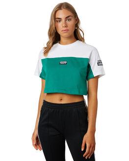WHITE GREEN WOMENS CLOTHING ADIDAS ACTIVEWEAR - EC0778WTGRN
