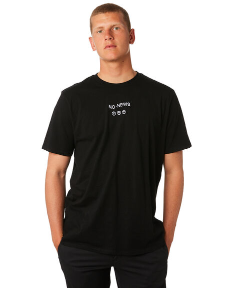 BLACK MENS CLOTHING NO NEWS TEES - N5184006BLACK