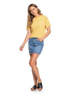 HONEY GOLD WOMENS CLOTHING ROXY TEES - ERJZT04774-YJY3