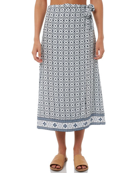 PRINT WOMENS CLOTHING ELWOOD SKIRTS - W81612PRINT