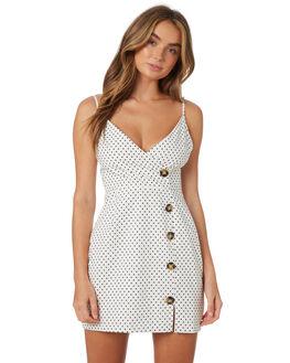 WHITE BLACK WOMENS CLOTHING MINKPINK DRESSES - MP1808478WHTBL
