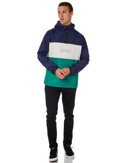 NAVY GREEN MENS CLOTHING HUFFER JACKETS - MJA84S3802NVYGR