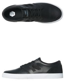 BLACK WHITE MENS FOOTWEAR NEW BALANCE SKATE SHOES - NM345SSB