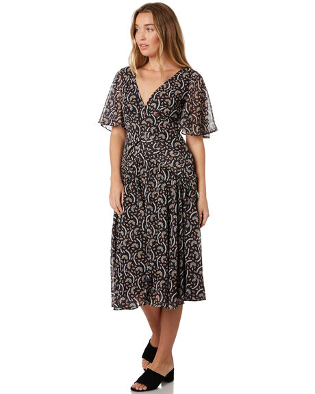 KABUKI FLORAL WOMENS CLOTHING STEVIE MAY DRESSES - SL190510DKABFL