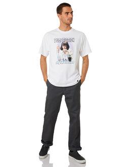 WHITE MENS CLOTHING HUF TEES - TS01311-WHT