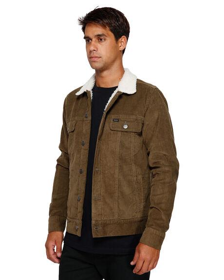 CADET GREEN MENS CLOTHING RVCA JACKETS - RV-R181433-CDG