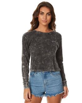 BLACK WOMENS CLOTHING BILLABONG TEES - 6571074BLK