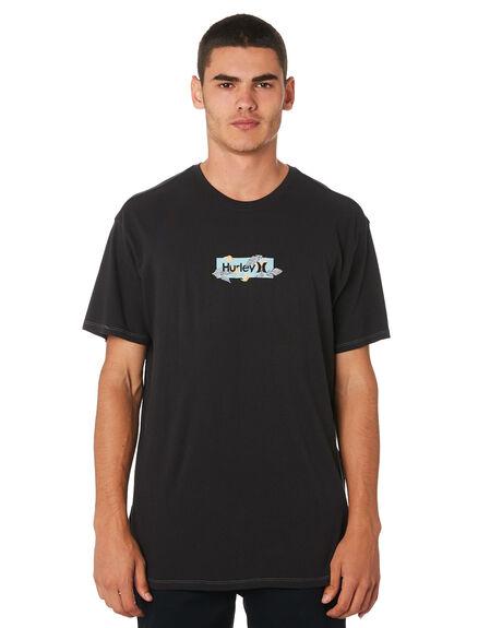 BLACK MENS CLOTHING HURLEY TEES - AT4165010