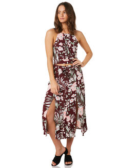 MERLOT FLORAL WOMENS CLOTHING O'NEILL SKIRTS - 5421605MRF