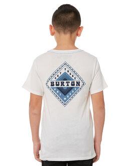 STOUT WHITE KIDS BOYS BURTON TEES - 196571100