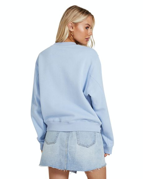 CORNFLOWER BLUE WOMENS CLOTHING SUBTITLED HOODIES + SWEATS - 35517900023