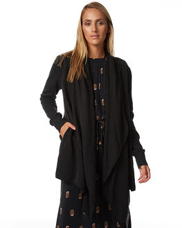 WASHED BLACK WOMENS CLOTHING TIGERLILY KNITS + CARDIGANS - T373245WBLK