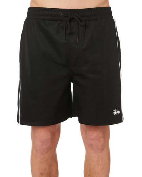 BLACK MENS CLOTHING STUSSY SHORTS - ST082613BLK