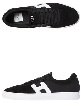 BLACK MENS FOOTWEAR HUF SKATE SHOES - CP00008BLK