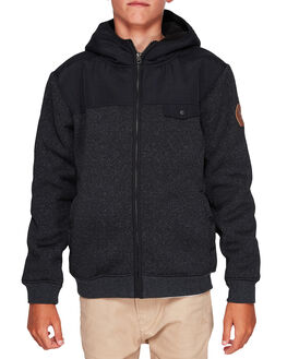 BLACK KIDS BOYS QUIKSILVER JUMPERS + JACKETS - EQBFT03453-KVJ0