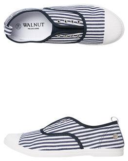 NAVY STRIPE WOMENS FOOTWEAR WALNUT SNEAKERS - EURONSTRP