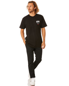 BLACK MENS CLOTHING VANS TEES - VN0A4MTYBLKBLK