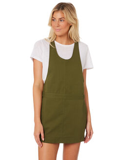 OLIVE CANVAS OUTLET WOMENS HURLEY DRESSES - AR4252-395