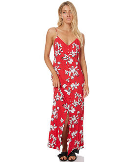RED FLOWER WOMENS CLOTHING RUE STIIC DRESSES - CC24RED