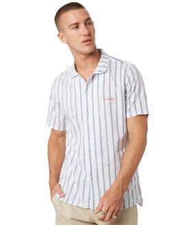 WHITE STRIPE MENS CLOTHING BARNEY COOLS SHIRTS - 313-CC1WHTST