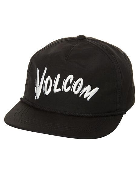 BLACK MENS ACCESSORIES VOLCOM HEADWEAR - D5531710BLK