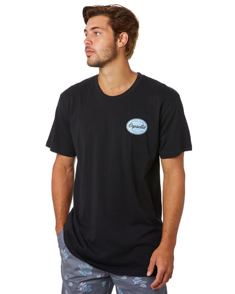 BLACK MENS CLOTHING DEPACTUS TEES - D5201021BLACK