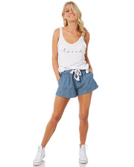 WHITE WOMENS CLOTHING ELWOOD SINGLETS - W83007-653
