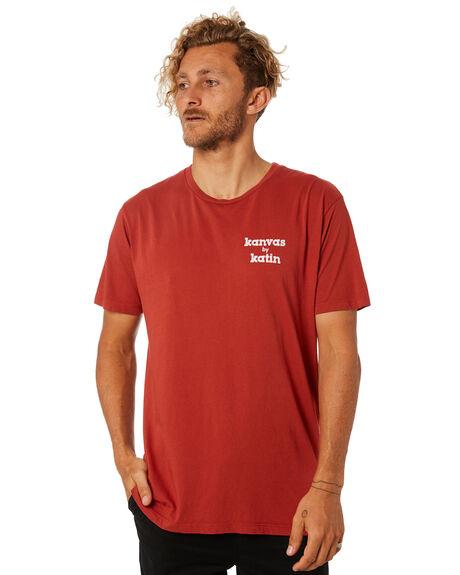 RED MENS CLOTHING KATIN TEES - TSKMA02RED