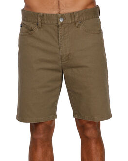 CADET GREEN MENS CLOTHING RVCA SHORTS - RV-R393312-CDG